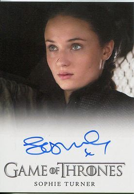 Game Of Thrones Season 6 FB Autograph Card Sophie Turner as Sansa Stark