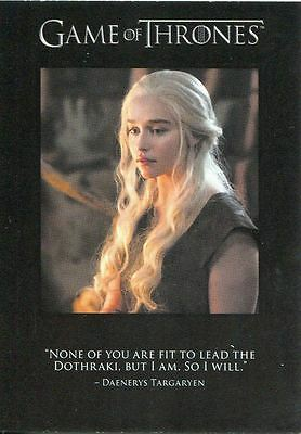 Game Of Thrones Season 6 Quotable Game Of Thrones Chase Card Q55