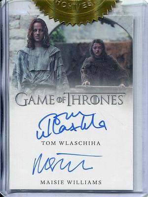 Game Of Thrones Season 6 Dual Autograph Card Tom Wlaschiha & M Williams [9 Case]