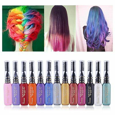 Unisex DIY Hair Color Wax Mud Disposable Temporary Modeling Dye Cream 13 Colours