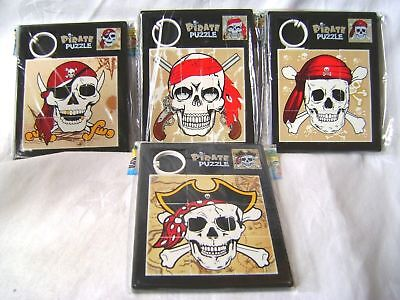 New Pirate Sliding Tile Puzzle Game In Black Case Skull Crossbones Giftworks