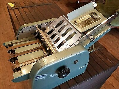 Vintage A.B.Dick 57 Industrial Envelope Paper Folder Tabletop Machine