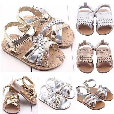 Summer Baby Girls Sandals Toddler Princess Soft Sole Cute Kid Casual Shoes 0-12M