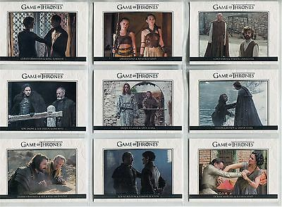 Game Of Thrones Season 6 Complete Relationships Chase Card Set DL31-40
