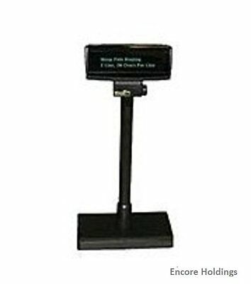 Logic Controls PD3900-BLACK Customer Pole Display - 2 Lines x 20 Characters -