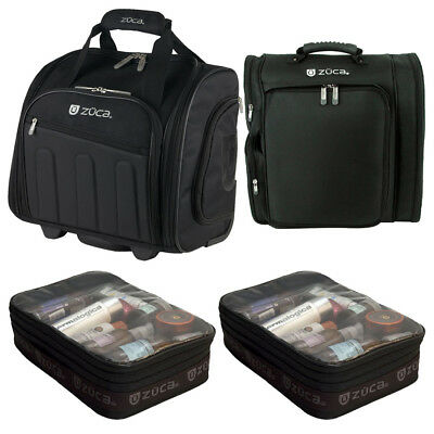 """Zuca Artist Backpack and """"Skipper"""" Wheeled Bag with 2 Extra Gift Utility Pouches"""