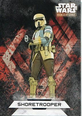 Star Wars Rogue One Series 2 Character Sticker Chase Card CS-16 Shoretrooper