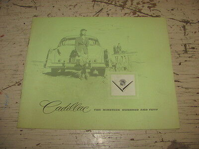 1950 Cadillac Car Sales Brochure Sixty-One Sixty-Two Coupe De Ville Sixty