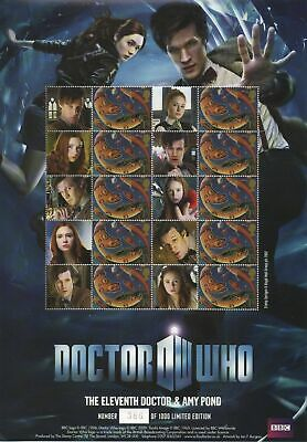 The 11th Doctor and Amy Pond Stamp Sheet BC384 Limited Edition