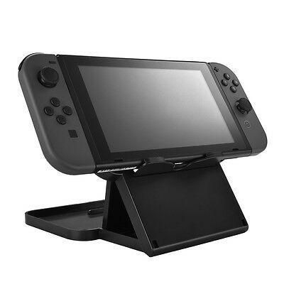 Black Game Console Adjustable Foldable Holder Display Portable Travel SU508