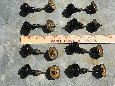 8 Antique Victorian Tear Drop Pulls Eastlake Hardware Wood Brass (Close Match)