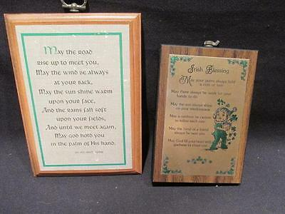 Irish Blessings 2 Plaques Wall & Desk May the Road & May Your Purse