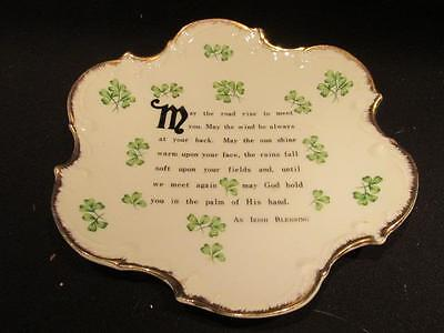 May the Road Rise to Meet You Irish Blessing on mid-century wall hanging/plate
