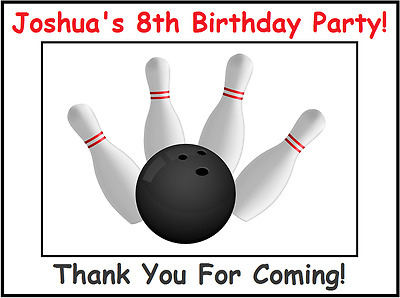 12 PERSONALIZED BOWLING pin birthday party favor tags  Bowling alley
