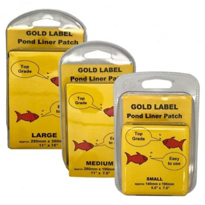 Gold Label Pond Liner Patch Repair Kits - Small, Medium & Large Available