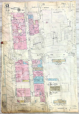 New York City, East Side, South St. Water St. Pike Slip, Cherry St., Sanborn Map