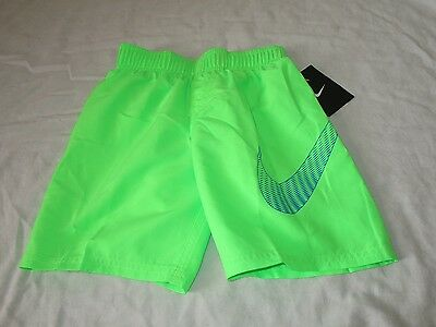 Boys Nike Swim Trunks Board Shorts Voltage Green Ness6680 Nwt 4