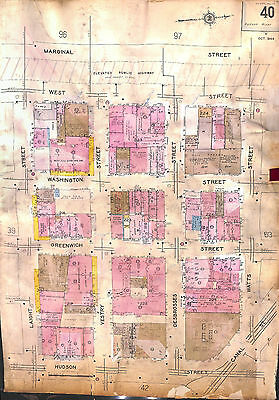 New York City, Tribeca, Laight St. Vestry St, Greenwich, Washington, Sanborn Map
