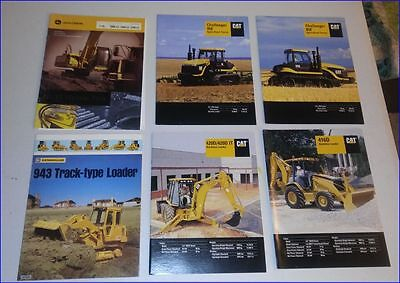 Caterpillar Lot of 6 Different Items, 5 Cat and 1 John Deere Sales Booklets