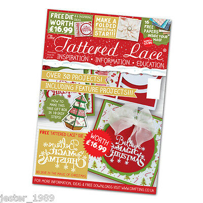 Tattered Lace Magazine - CHRISTMAS SPECIAL 2016 + free Christmas Sentiment Die