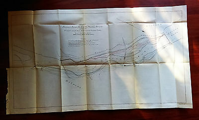 Late 1800's Passaic River at the Dundee Rapids New Jersey Survey Map