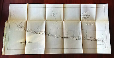 1904 Survey Map Over Revetment Hopefield Bend Arkansas Mound City Landings