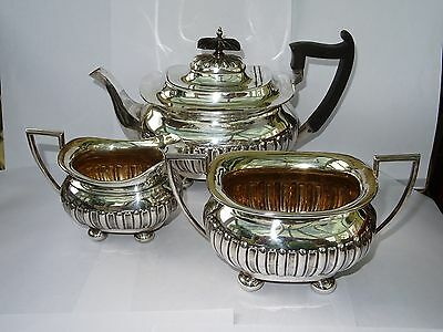 Vintage/Antique Silver Plated 3 Piece Teaset by Walker & Hall