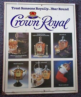 RARE Vintage SEAGRAM'S ROYAL CROWN WHISKEY SIGN....COOL!
