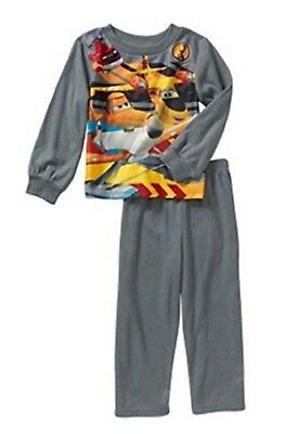Disney Pixar Little Boys Planes Fire and Rescue Flannel Pajama Set (12M)