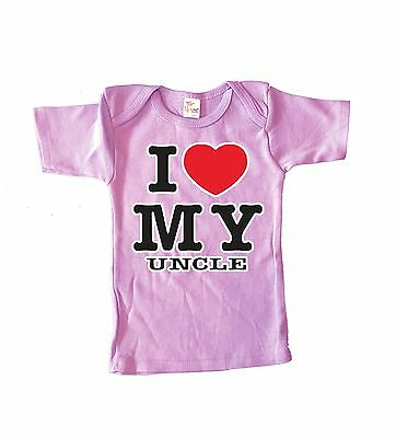 6-12 months - funny Uncle shirt baby shirt pink infant tee cute