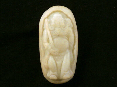 Fine Antique Chinese HeTian Jade Hand Carved *Legendary Figure* Pendant V072