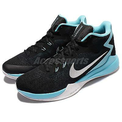 best website 760f8 f38bf Nike Zoom Evidence Black Blue Men Basketball Shoes Sneakers Trainers  852464-004