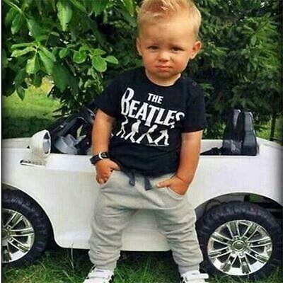 1Set Toddler Kids Baby Boy T-shirt Tops+Long Pants Trousers Outfits Clothing