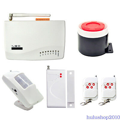 Wireless GSM Home House Security Burglar Alarm System Auto Dialer 433MHz Fitting