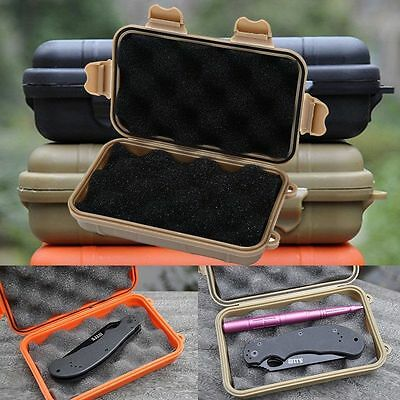 Plastic Waterproof Shockproof Outdoor Survival Container Storage Case Carry Box