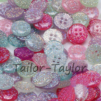 20/50pcs 15mm Resin Sewing Buttons 4 Holes Scrapbook Candy Color Cloths Crafts