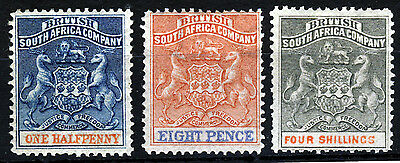 BRITISH CENTRAL AFRICA 1892-94 Arms Issue ½d. to 4s. SG 18, SG 24 & SG 26 MINT