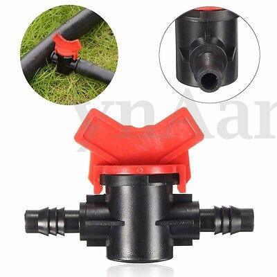 Plastic Garden Irrigation Valve Barb Ball Shut-off Connector For Pipe Hose Tube