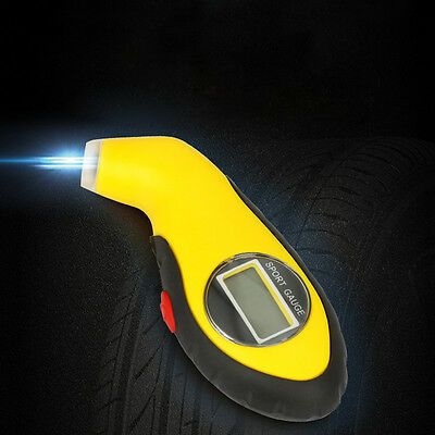 For Car Motorcycle Tire LED Tyre Air Pressure Gauge LCD Digital Tester Tools HOT