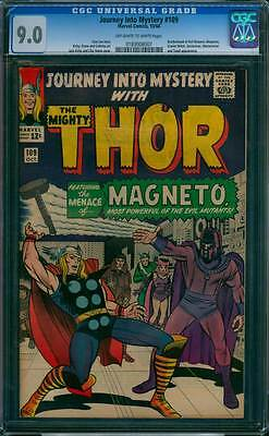 Journey into Mystery # 109  The Menace of Magneto !   CGC 9.0 scarce book !