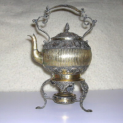 J.m. Van Kempen Early 1800's  Dutch Gilded Silver  Kettle With Stand - B.offer