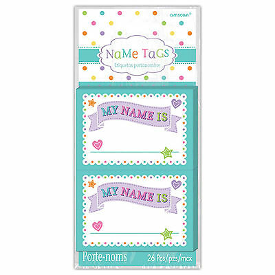 26 New Baby Shower Celebration Party Guests Family Friends Name Tags Stickers