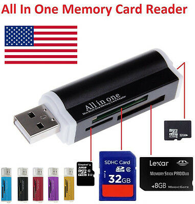 High Speed All in1 USB Memory Card Reader Adapter For Micro SD MMC SDHC TF M2 TU