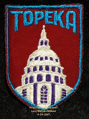 LMH PATCH Badge  TOPEKA State CAPITAL DOME  Capitol Building Kansas KS