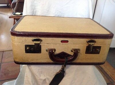 Vintage LINCOLN Canvas Alligator Trim Suitcase Luggage Zephyrweight