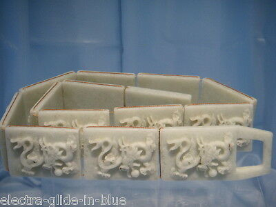 Chinese Carved Jade Belt With Dragon Decoration Jb002