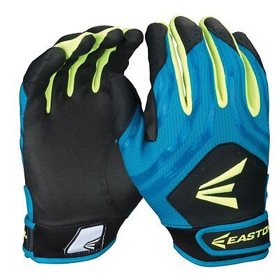 Easton HF3 Hyperskin Fastpitch Women's Batting Gloves Black/Teal/Optic Yellow L