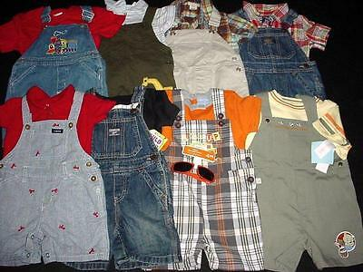 Used Baby Toddler Boy One Piece 24/2T Months Summer Overall Shorts Clothes Lot