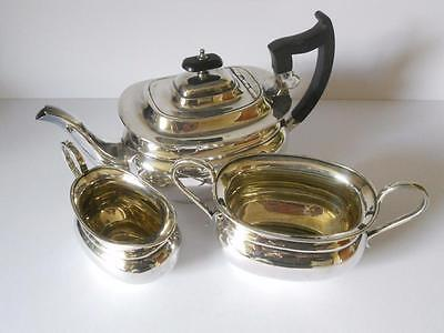 Lovely Vintage Sheffield  EPNS Silver Plated Tea Set, Tea Pot, Milk, Sugar