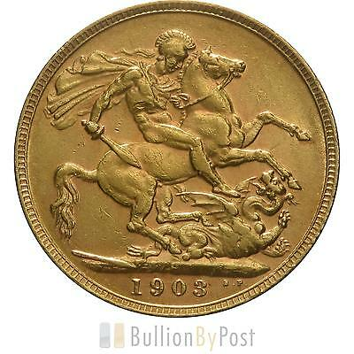 1903 Gold Sovereign - King Edward VII - P
